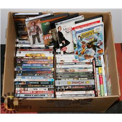 BOX OF OVER 75 DVDS INCL SIMPSONS FIRST SEASON,