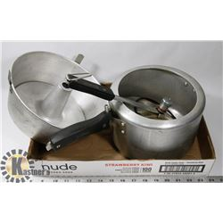 SUNFLAME PRESSURE COOKER AND ANGEL FOOD CAKE PAN
