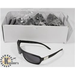 CASE OF BLACK DESIGNER SUNGLASSES