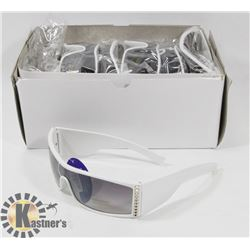 CASE OF WHITE DESIGNER SUNGLASSES