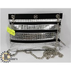 MICHAEL KORS REPLICA SILVER AND BLACK PURSE