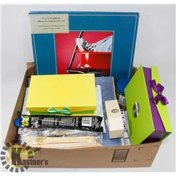 LOT OF ASSORTED SCRAPBOOKING SUPPLIES,