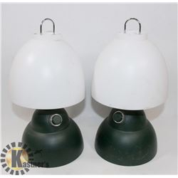 LOT OF 2 COLEMAN LAMPS BATTERY OPERATED