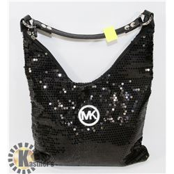 MICHAEL KORS REPLICA BLACK SEQUIN PURSE
