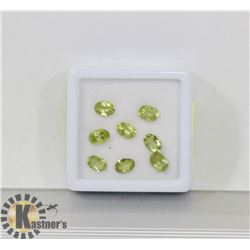 #87-GENUINE PERIDOT LOOSE GEMSTONE  6.5CT