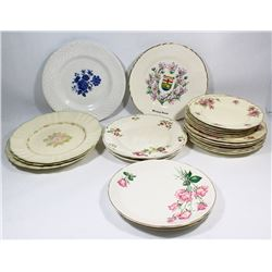 BOX OF ASSORTED CHINA PLATES