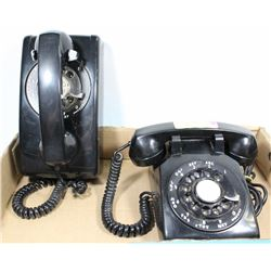 LOT OF 2 ROTARY DIAL TELEPHONES