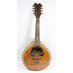 ANTIQUE MANDOLIN WITH MOTHER OF PEARL DECORATIVE