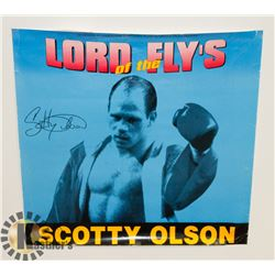 """AUTOGRAPHED SCOTTY """"BULLDOG"""" OLSON BOXING POSTER."""