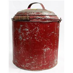 1940S REDDISH COOLER (NO HOLES) WITH LID