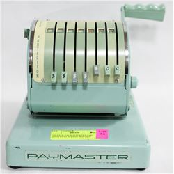 VINTAGE PAYMASTER DOLLARS AND CENTS ADDING MACHINE
