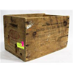 C.I.L. WOODEN AMMO BOX.