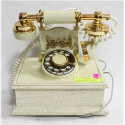 VINTAGE DECO-TEL PERSONAL DESKTOP CRADLE PHONE,