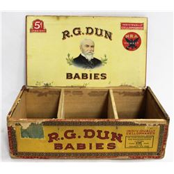 1920'S ANTIQUE RG DUN CIGAR BOX