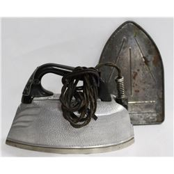 ELECTRIC STEAM IRON C/W CORD AND SILVER SHIELD