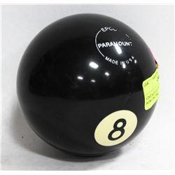 VINTAGE USA MADE 8 BALL BOWLING BALL.