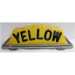 VINTAGE 1950S YELLOW CAB ROOF LIGHT BOX.