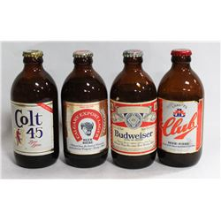 BOX W/4 COLLECTIBLE VINTAGE BOTTLES OF
