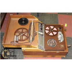 CIRCA 1956 SOUND MIRROR OPEN RAIL TAPE RECORDER