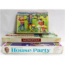 LOT OF GAMES 1961 MONOPOLY (WOODEN PIECE-COMPLETE)