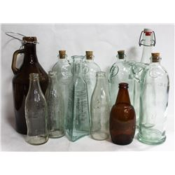 FLAT OF VINTAGE COCA COLA BOTTLES AND MORE