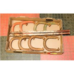 4 SETS OF TOP RINGER HORSE SHOES AND PINS