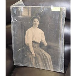 VICTORIAN GIANT PHOTOGRAPH OF WOMAN