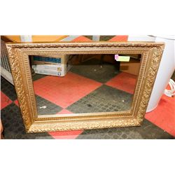 22' X 27' ORNATE GOLD FRAMED MIRROR