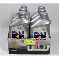 LOT OF 6 MOBIL 0W-40 SYNTHETIC MOTOR OIL