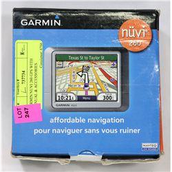 GARMIN NUVI 260 GPS WITH MANUAL & ACCESSORIES