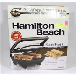 HAMILTON BEACH PANINI MAKER