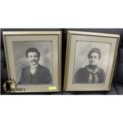 PAIR OF ANTIQUE PICTURES PROFESSIONALLY FRAMED.