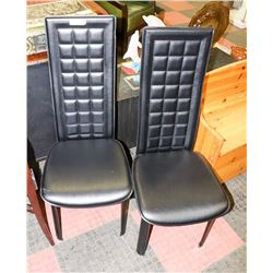 PAIR OF LEATHERETTE CHAIRS