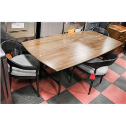 """WOOD KITCHEN TABLE (42""""X85""""X31"""") W/3 CHAIRS"""