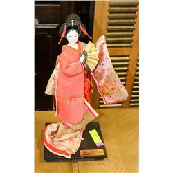 HANDMADE SILK JAPANESE GEISHA FIGURINE