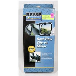 REESE TOWPOWER DUAL VIEW CLIP ON MIRROR