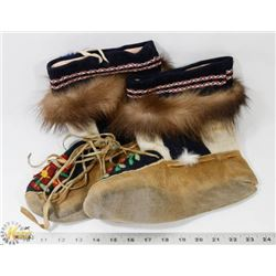 FLAT OF GENUINE NATIVE MOCCASIN BOOTS
