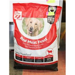 RED MEAT FEAST DOG FOOD 22.5LBS EXP. 08-2019