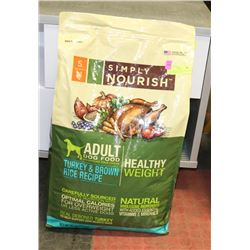 SIMPLY NOURISH ADULT DOG FOOD TURKEY & BROWN RICE
