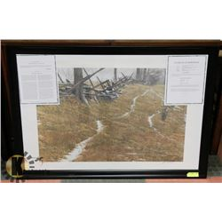 "FRAMED ROBERT BATEMAN ""PASTURE TRAILS-RED FOX"""