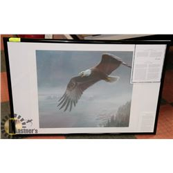 "FRAMED ROBERT BATEMAN ""ON THE WIND"""
