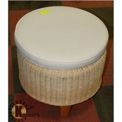 WICKER FOOT STOOL/OTTOMAN