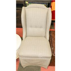 UPHOLSTERED WING BACK CHAIR. FURNITURE
