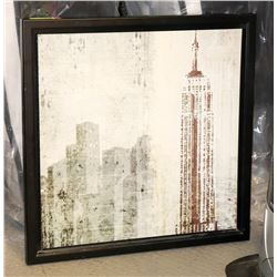 CITY SCAPE FRAMED ART PICTURE
