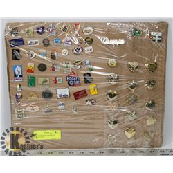 COLLECTION OF 66 ASSORTED VINTAGE PINS.