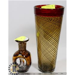 """PAIR OF SHOWHOME VASES - 12"""" AND 7"""" TALL."""
