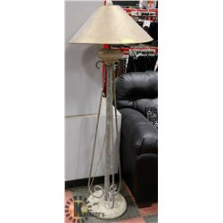 FLOOR LAMP WITH GOLD SHADE