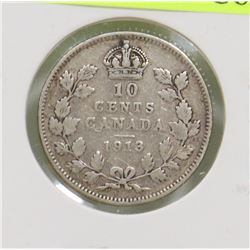 1913 CANADIAN GEORGE V 10 CENT COIN