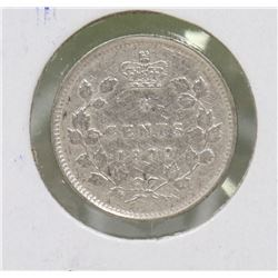 1899 CANADIAN QUEEN VICTORIA SILVER 5 CENT COIN