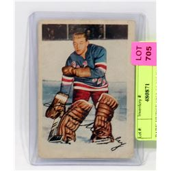 PARKHURST 1953-54 #53 WORSLEY ROOKIE CARD